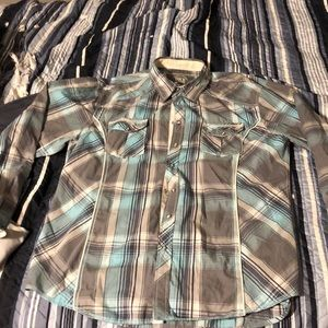 Men's BKe XXL plaid athletic fit button up shirt